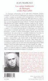 Les saints fondateurs de la bretagne et des pays celtes - 4ème de couverture - Format classique