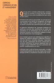 Cerveau, communication et management - 4ème de couverture - Format classique