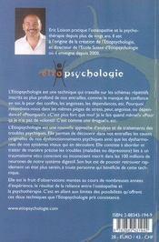 L'étiopsychologie - 4ème de couverture - Format classique