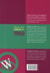 Nous, Les Enfants De 1960 - 4ème de couverture - Format classique