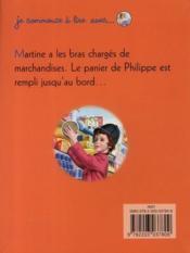 Je commence à lire avec Martine T.17 ; Martine fait ses courses - 4ème de couverture - Format classique