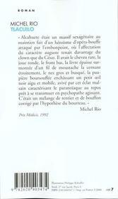 Tlacuilo - 4ème de couverture - Format classique