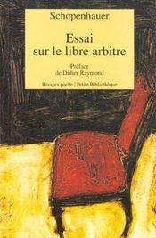 Essai sur le libre arbitre - 1ere ed - Intérieur - Format classique