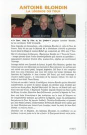 Antoine Blondin ; la légende du Tour - 4ème de couverture - Format classique