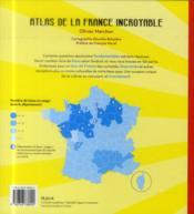 Atlas de la France incroyable - 4ème de couverture - Format classique