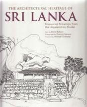 The architectural heritage of sri lanka - Couverture - Format classique