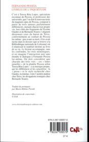 Livre(s) de l'inquiétude - 4ème de couverture - Format classique