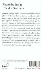 L'île des Gauchers - 4ème de couverture - Format classique