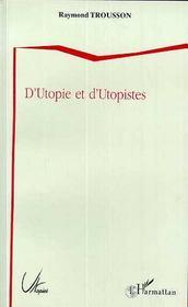 D'utopie et d'utopistes - Couverture - Format classique