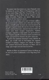 Virginia Poe ; Precis D'Une Petite - 4ème de couverture - Format classique