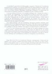 Histoire De L'Assimilation - 4ème de couverture - Format classique
