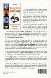 Manuel Pratique Du Cristal - 4ème de couverture - Format classique