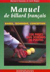 Manuel de billard francais bases, technique, conception - Intérieur - Format classique