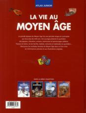 Atlas junior de la vie au Moyen Age - 4ème de couverture - Format classique