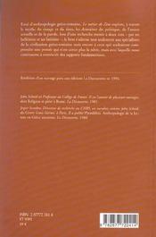 Le Metier De Zeus - 4ème de couverture - Format classique