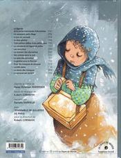 La petite marchande d'allumettes - 4ème de couverture - Format classique