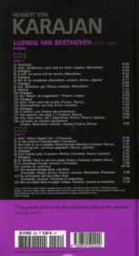 Ludwig van Beethoven : Fidelio - 4ème de couverture - Format classique