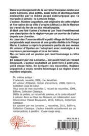 En Passant Par Ma Lorraine... - 4ème de couverture - Format classique