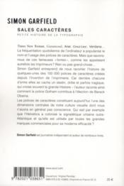 Sales caractères ! petite histoire de la typographie - 4ème de couverture - Format classique