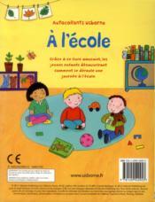 À l'école - 4ème de couverture - Format classique