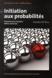 Initiation aux probabilités ; traduction de la neuvième édition américaine - Couverture - Format classique