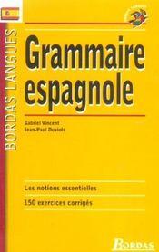 Grammaire espagnole - Intérieur - Format classique