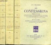 LES CONFESSIONS suivie DES REVERIES DU PROMENEUR SOLITAIRE en 3 VOLUMES (TOME1+2+3) - Couverture - Format classique