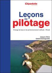 Leçons de pilotage ; pilotage de base et de perfectionnement LAPL(A)-PPL(A) (5e édition) - Couverture - Format classique