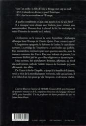 Civilizations - 4ème de couverture - Format classique