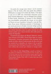 La porte du voyage sans retour - 4ème de couverture - Format classique