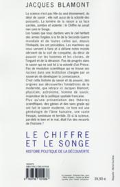 Le chiffre et le songe - 4ème de couverture - Format classique