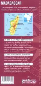 Madagascar - 4ème de couverture - Format classique