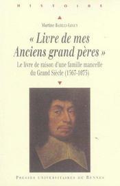 Livre de mes anciens grands peres - Intérieur - Format classique