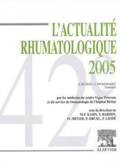 Actualite Rhumatologique 2005 - Couverture - Format classique