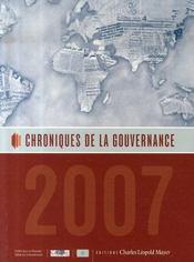 Chroniques de la gouvernance 2007 - Intérieur - Format classique