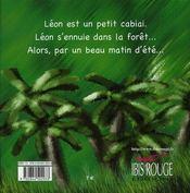 Léon, le cabiai - 4ème de couverture - Format classique