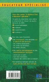 Guide de preparation au dees - 4ème de couverture - Format classique