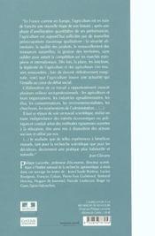 Quatre Scenarios Pour L'Avenir De L'Agriculture - 4ème de couverture - Format classique