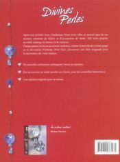 Divines perles bijoux et accessoires en perles - 4ème de couverture - Format classique
