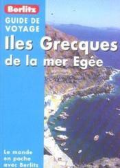 Iles grecques de la mer egee - Couverture - Format classique