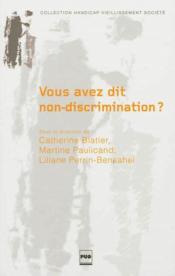Vous avez dit non-discrimination - Couverture - Format classique