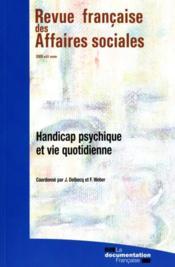 Handicap psychique et vie quotidienne - Couverture - Format classique