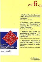 Studia informatica universalis t.6 - Couverture - Format classique