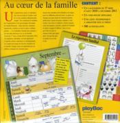 Le calendrier familial de maman 2011 - 4ème de couverture - Format classique