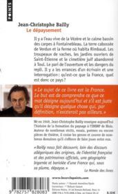 Le dépaysement ; voyages en France - 4ème de couverture - Format classique