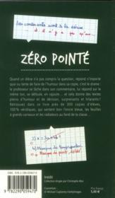 Zero pointé - 4ème de couverture - Format classique