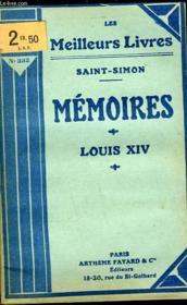 Memoires - Louis Xiv - Couverture - Format classique