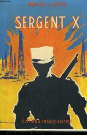 Sergent X. - Couverture - Format classique