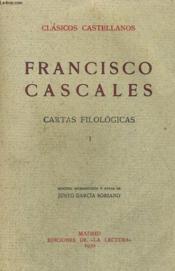 Cartas Filologicas, I - Couverture - Format classique