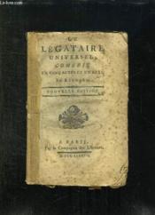 Le Legataire Universel. Nouvelle Edition. - Couverture - Format classique